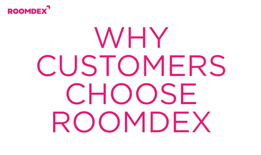 why customers choose roomdex